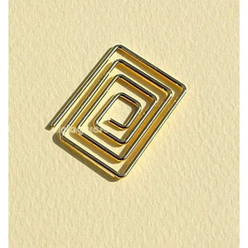 CRM Paperclips Rectangle Gold