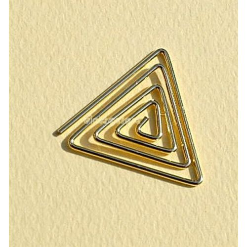 CRM Paperclips Triangle Gold