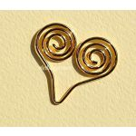 CRM Paperclips Heart Gold