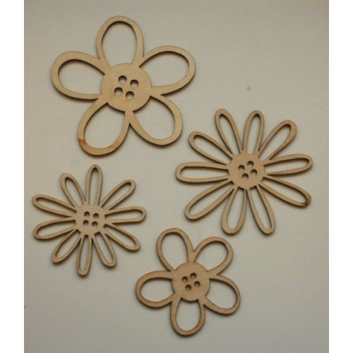 KSC Wood Flourishes - Button Blooms