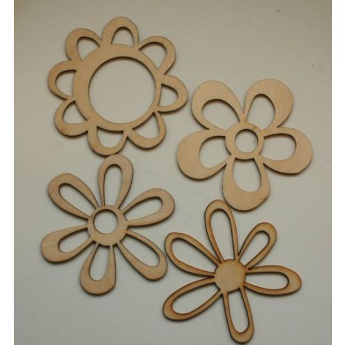 KSC Wood Flourishes - Retro Flowers