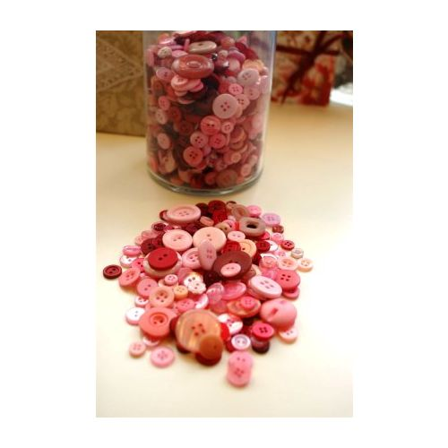 SRH-ADL Knopf-Mix Pink Posies 25 gr