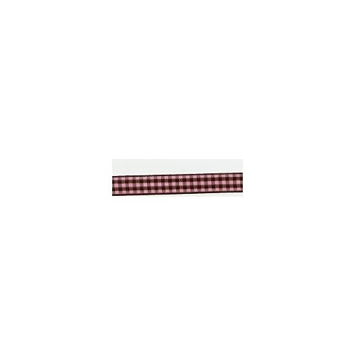 CRI Ribbon Pink-Brown Gingham 3/8 (BND0098)
