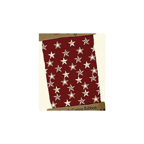 PBK Ribbons - Primitive Collection - Red-White Stars
