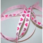 SRH - Grosgrain 3/8 Dotted & Striped Hearts (BND0255)