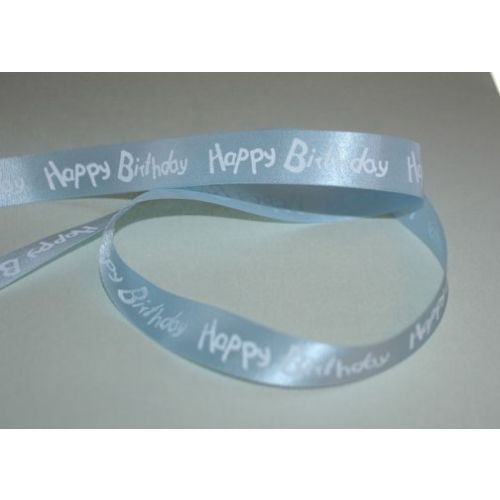 SRH - Satinband Happy Birthday Blue (BND0248)