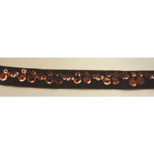 SRH Ribbon - Dark Brown Samt (SPZ0008)