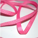 SRH Ribbon - Grosgrain 3/8 - Hot Pink mit pink Dots