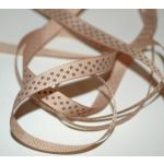 SRH Ribbon - Grosgrain 3/8 - Tan mit turftan Dots