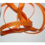 SRH Ribbon - Grosgrain 3/8 - Tangerine mit black Dots