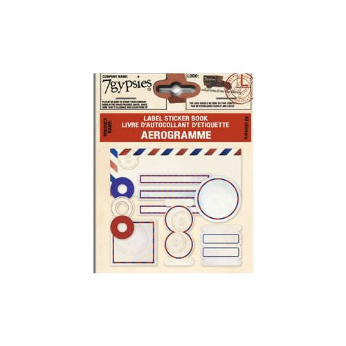 7G Sticker - Label Sticker Book Aerogramm