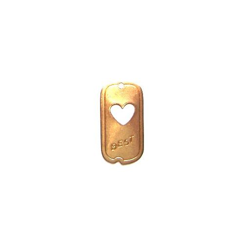 ACP Brass Charm Best Friend Dog Tag
