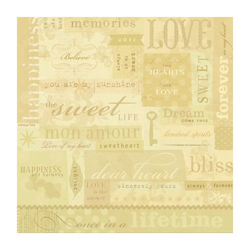 K & Company Papier - Maison Love Words Embossed