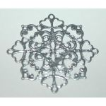 EFC Embellishments - Metall Ornament Silber