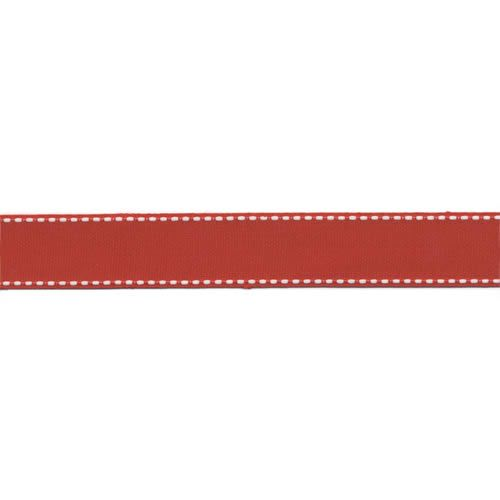 BAZ Ribbon - Red Dashed 7/8