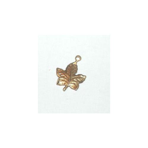 ACP Brass Charm Maple Leaf