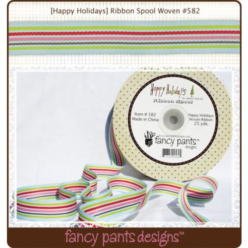FCP Ribbon - Happy Holidays Woven