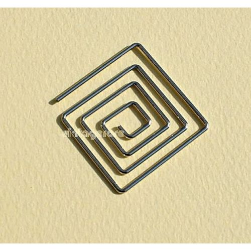 CRM Paperclips Square Gold