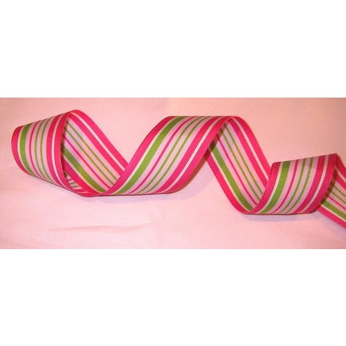 MYA Ribbon - Grosgrain Cotton Candy Stripe