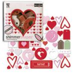 SCW Chipboard - Shimmer Shapes Lucky in Love
