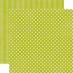 ECP Cardstock -  Dots & Stripes Leaf Small Dots