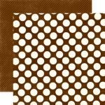 ECP Cardstock - Candy Shoppe Large Dots Chocolate
