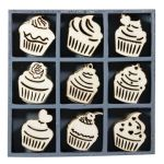 KRS Embellishment - Wood Art Cup Cake