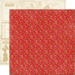 ECP Cardstock - This & That Graceful Red Floral