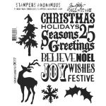 SAY Cling Mounted Stamp Set - Tim Holtz Seasons Silhouettes