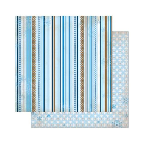 BOB Cardstock - Powder Mountain Stripe