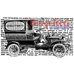 DRS Cling Mounted Stamps - Vintage Delivery Truck