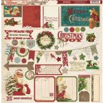 MYM Chipboard 12x12 - Vintage Christmas