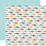 CTB Cardstock - Beach Boardwalk Little Sharks