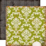 ECP Cardstock - Chillingsworth Manor Green Damask