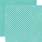 ECP Cardstock - Dots Teal Small Dots