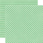 ECP Cardstock - Dots & Stripes Jade Small Dot