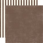 ECP Cardstock - Dots & Stripes Chestnut Tiny Dots