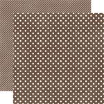 ECP Cardstock - Dots & Stripes Chestnut Small Dots