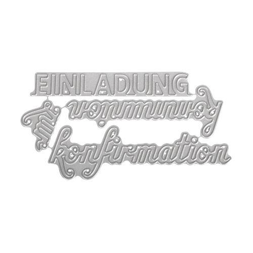 ... RYH Maschinenstanze Stanzschablone   Einladung Zur Kommunion /Konfirmation