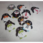 SRH Embellishments - Buttons/Knöpfe Pinguin