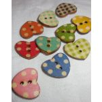 SRH Embellishments - Buttons/Knöpfe Country Hearts
