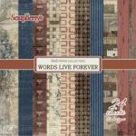 SCB Paper Pack 6x6 - Words live forever