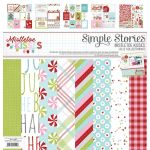 SST Paper Pack 12x12 - Mistletoe Kisses Collection Kit