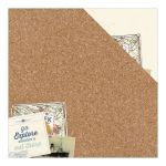 ATQ Cardstock - Explore Cork Board Collage/Cream Grid...