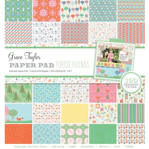 GRS Paper Pad 12 x 12 - Forest Friends