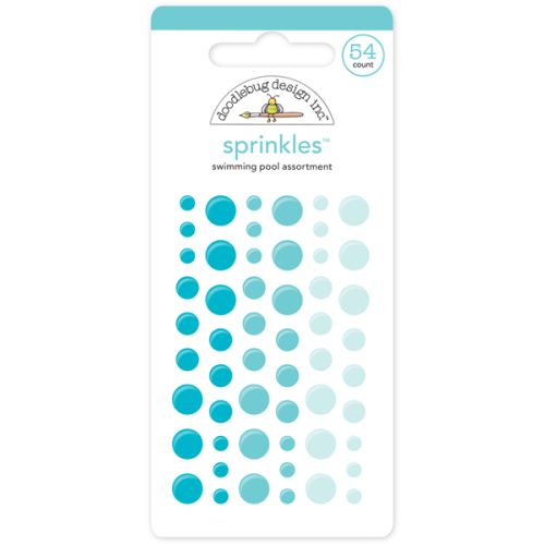 DDB Embellishments - Enamel Dots/Sprinkles Swimmingpool