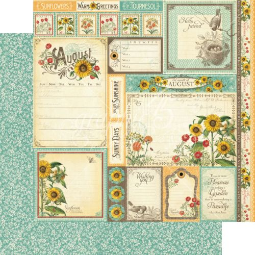 G45 Cardstock - Time to Flourish August