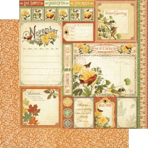 G45 Cardstock - Time to Flourish November