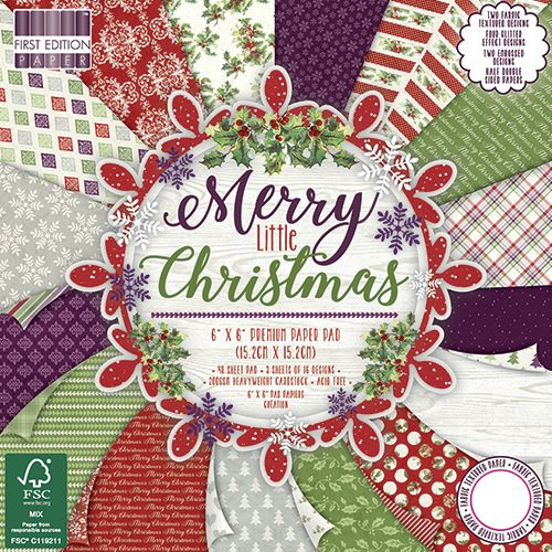 TRC Paper Pad 6x6 - First Edition Merry little Christmas