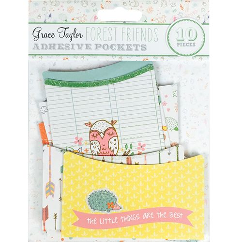 GRS Embellishments - Adhesive Pockets Grace Taylor Forest Friends